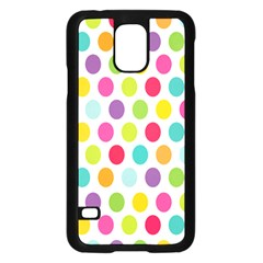 Polka Dot Yellow Green Blue Pink Purple Red Rainbow Color Samsung Galaxy S5 Case (black) by Mariart