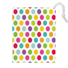 Polka Dot Yellow Green Blue Pink Purple Red Rainbow Color Drawstring Pouches (xxl) by Mariart