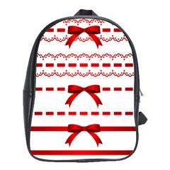 Ribbon Red Line School Bags(large)  by Mariart
