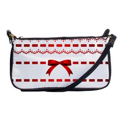 Ribbon Red Line Shoulder Clutch Bags by Mariart
