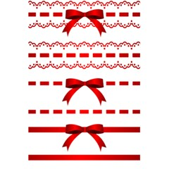 Ribbon Red Line 5 5  X 8 5  Notebooks by Mariart