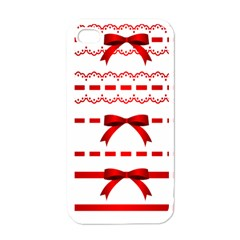 Ribbon Red Line Apple Iphone 4 Case (white) by Mariart