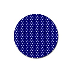 Rainbow Polka Dot Borders Colorful Resolution Wallpaper Blue Star Rubber Coaster (round)  by Mariart