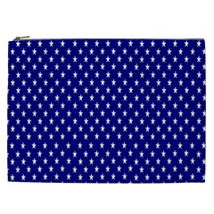 Rainbow Polka Dot Borders Colorful Resolution Wallpaper Blue Star Cosmetic Bag (xxl)  by Mariart