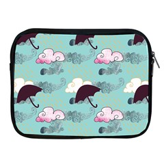 Rain Clouds Umbrella Blue Sky Pink Apple Ipad 2/3/4 Zipper Cases by Mariart