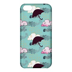 Rain Clouds Umbrella Blue Sky Pink Apple Iphone 5c Hardshell Case by Mariart