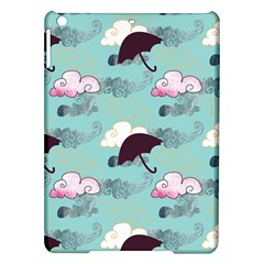 Rain Clouds Umbrella Blue Sky Pink Ipad Air Hardshell Cases by Mariart