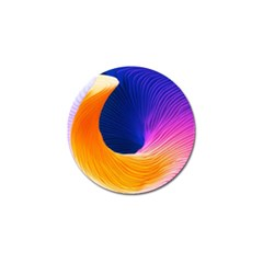 Wave Waves Chefron Color Blue Pink Orange White Red Purple Golf Ball Marker (10 Pack) by Mariart