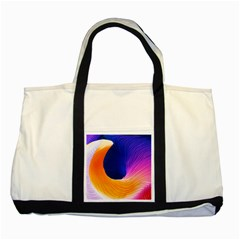 Wave Waves Chefron Color Blue Pink Orange White Red Purple Two Tone Tote Bag by Mariart