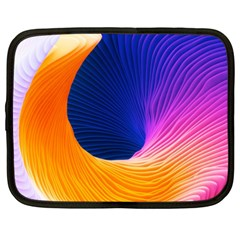 Wave Waves Chefron Color Blue Pink Orange White Red Purple Netbook Case (xxl)  by Mariart
