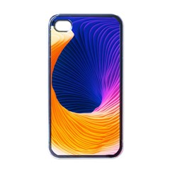 Wave Waves Chefron Color Blue Pink Orange White Red Purple Apple Iphone 4 Case (black) by Mariart