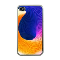 Wave Waves Chefron Color Blue Pink Orange White Red Purple Apple Iphone 4 Case (clear) by Mariart