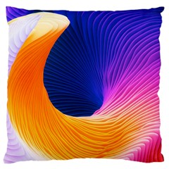 Wave Waves Chefron Color Blue Pink Orange White Red Purple Large Cushion Case (two Sides) by Mariart