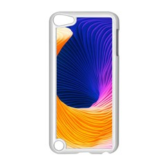 Wave Waves Chefron Color Blue Pink Orange White Red Purple Apple Ipod Touch 5 Case (white) by Mariart