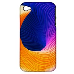 Wave Waves Chefron Color Blue Pink Orange White Red Purple Apple Iphone 4/4s Hardshell Case (pc+silicone) by Mariart