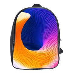 Wave Waves Chefron Color Blue Pink Orange White Red Purple School Bags (xl)  by Mariart