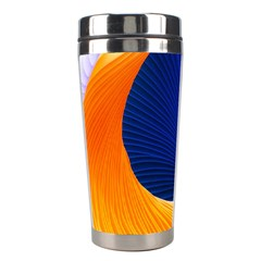 Wave Waves Chefron Color Blue Pink Orange White Red Purple Stainless Steel Travel Tumblers by Mariart