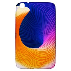 Wave Waves Chefron Color Blue Pink Orange White Red Purple Samsung Galaxy Tab 3 (8 ) T3100 Hardshell Case  by Mariart