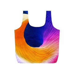 Wave Waves Chefron Color Blue Pink Orange White Red Purple Full Print Recycle Bags (s)  by Mariart