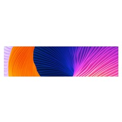 Wave Waves Chefron Color Blue Pink Orange White Red Purple Satin Scarf (oblong) by Mariart