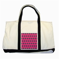 Polka Dot Circle Pink Purple Green Two Tone Tote Bag by Mariart