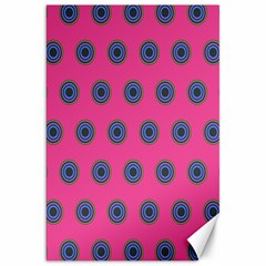 Polka Dot Circle Pink Purple Green Canvas 20  X 30   by Mariart