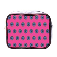 Polka Dot Circle Pink Purple Green Mini Toiletries Bags by Mariart