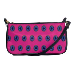 Polka Dot Circle Pink Purple Green Shoulder Clutch Bags by Mariart