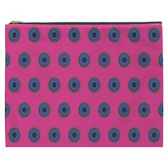 Polka Dot Circle Pink Purple Green Cosmetic Bag (xxxl)  by Mariart