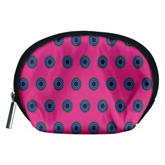 Polka Dot Circle Pink Purple Green Accessory Pouches (medium)  by Mariart