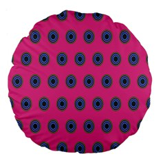 Polka Dot Circle Pink Purple Green Large 18  Premium Flano Round Cushions by Mariart