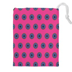 Polka Dot Circle Pink Purple Green Drawstring Pouches (xxl) by Mariart