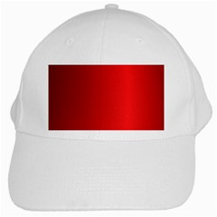 Red Gradient Fractal Backgroun White Cap by Simbadda