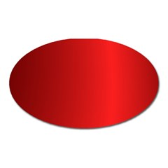 Red Gradient Fractal Backgroun Oval Magnet by Simbadda