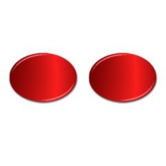 Red Gradient Fractal Backgroun Cufflinks (oval) by Simbadda