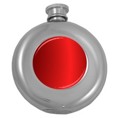 Red Gradient Fractal Backgroun Round Hip Flask (5 Oz) by Simbadda