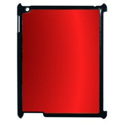 Red Gradient Fractal Backgroun Apple Ipad 2 Case (black) by Simbadda