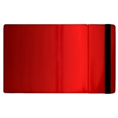 Red Gradient Fractal Backgroun Apple Ipad 3/4 Flip Case by Simbadda