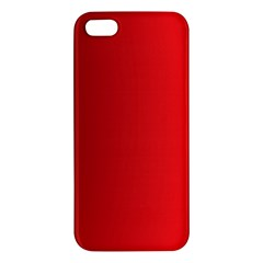 Red Gradient Fractal Backgroun Apple Iphone 5 Premium Hardshell Case by Simbadda