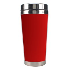 Red Gradient Fractal Backgroun Stainless Steel Travel Tumblers by Simbadda