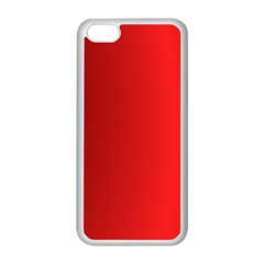 Red Gradient Fractal Backgroun Apple Iphone 5c Seamless Case (white) by Simbadda