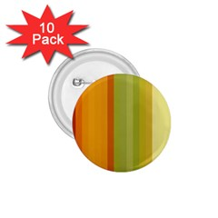 Colorful Citrus Colors Striped Background Wallpaper 1 75  Buttons (10 Pack) by Simbadda