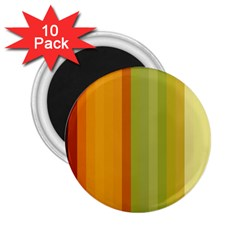 Colorful Citrus Colors Striped Background Wallpaper 2 25  Magnets (10 Pack)