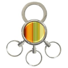 Colorful Citrus Colors Striped Background Wallpaper 3 Ring Key Chains by Simbadda