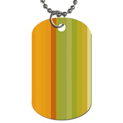 Colorful Citrus Colors Striped Background Wallpaper Dog Tag (two Sides) by Simbadda