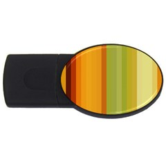 Colorful Citrus Colors Striped Background Wallpaper Usb Flash Drive Oval (4 Gb) by Simbadda