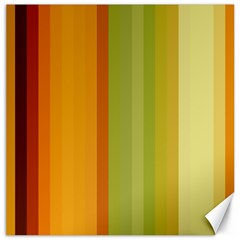 Colorful Citrus Colors Striped Background Wallpaper Canvas 16  X 16   by Simbadda