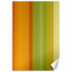 Colorful Citrus Colors Striped Background Wallpaper Canvas 20  X 30   by Simbadda