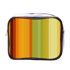 Colorful Citrus Colors Striped Background Wallpaper Mini Toiletries Bags by Simbadda