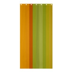 Colorful Citrus Colors Striped Background Wallpaper Shower Curtain 36  X 72  (stall)  by Simbadda